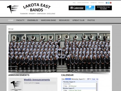 Lakota East Bands New Site