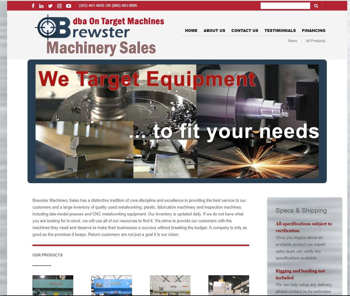brewster machinery
